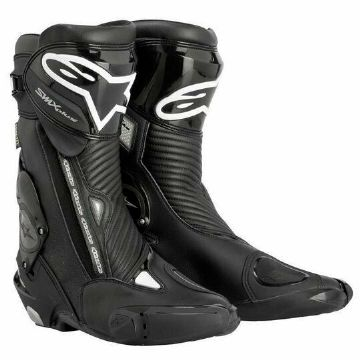 Alpinestars S-MX Plus Motorcycle Motorbike CE Approved Race Sports Boots Black